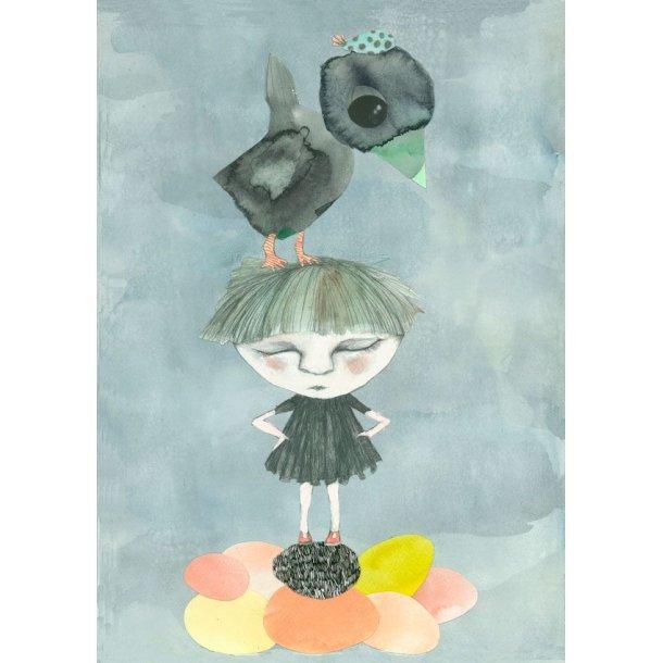 Det sorte æg, postkort