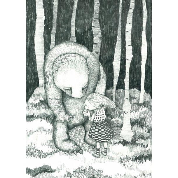 I skoven, postkort
